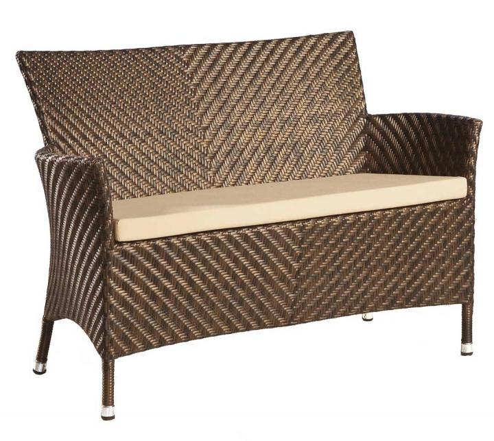Alexander Rose Ocean Wave Bench With Cushion 4ft Hayes