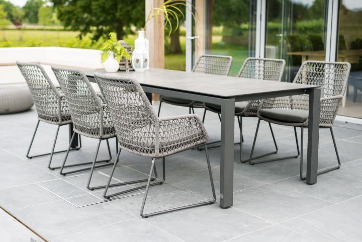 4 Seasons Outdoor Babilonia 6 Seat Rectangular Goa Dining Set