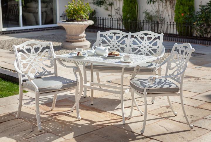 Peachy Hartman Capri Royal White High Coffee Set Metal Garden Furniture Theyellowbook Wood Chair Design Ideas Theyellowbookinfo