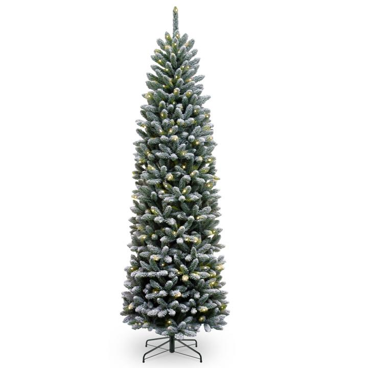 6ft Pre-lit Snowy Kingswood Fir Pencil Artificial