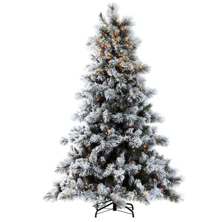 buy online 097d2 5ad80 7ft Pre-lit Nordic Pine Glittery Flocked Artificial ...