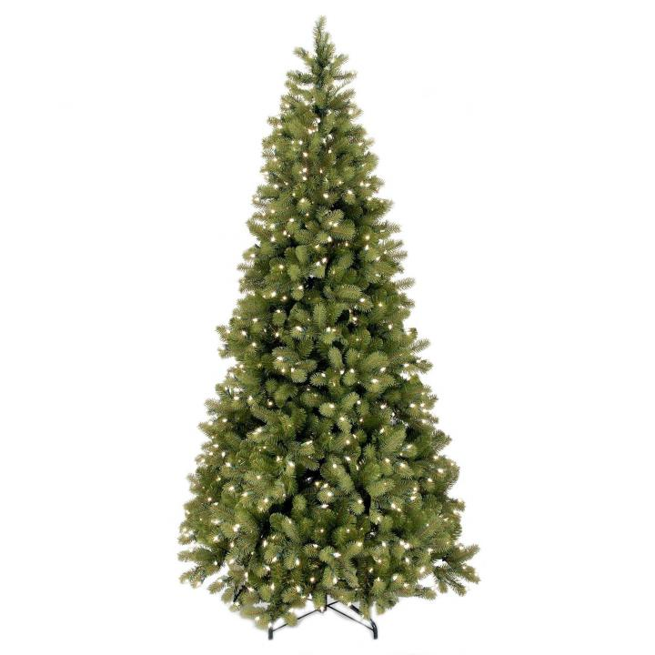 7ft Black Pre Lit Christmas Tree: 6ft Pre-lit Bayberry Spruce Slim Feel-Real Artificial