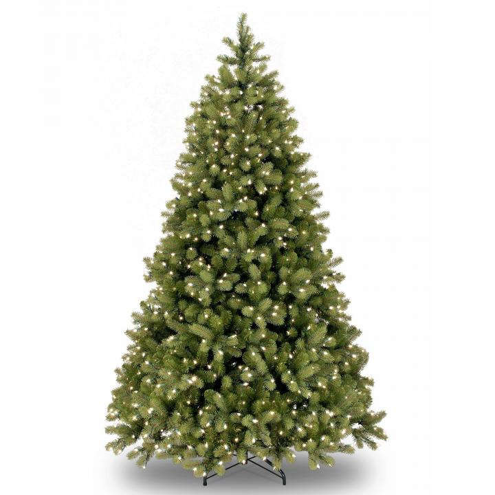 Pe Christmas Trees Uk: 5.5ft Pre-lit Bayberry Spruce Feel-Real Artificial