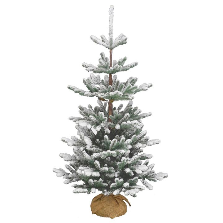 Pe Christmas Trees Uk: 4ft Snowy Imperial Blue Spruce Burlap Feel-Real Artificial