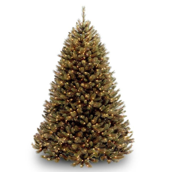 6ft Pre-lit Rocky Ridge Pine Slim Artificial Christmas Tree