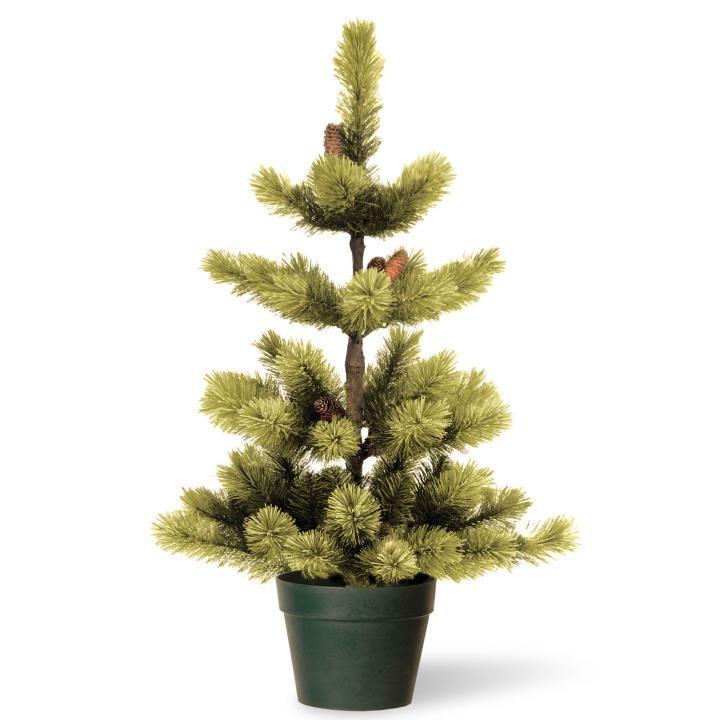 3ft Christmas Trees Artificial: 3ft Woodland Carolina Pine Potted Artificial Christmas