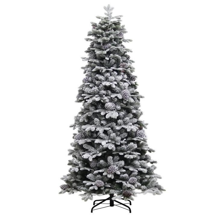 Winter Berry /& Pine Cone Decorative Frosted Fir Christmas Tree 5Ft 6Ft 7ft 8Ft