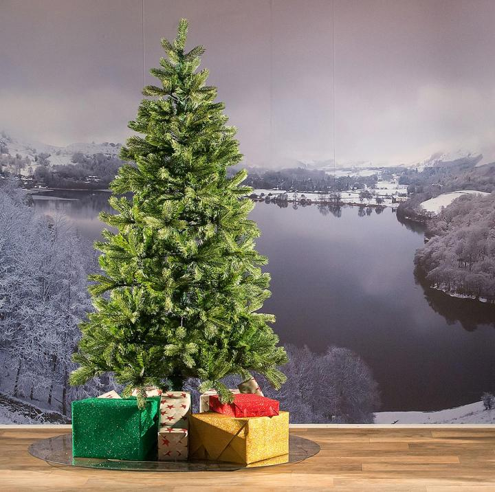 6.5ft Bayberry Spruce Slim Feel-Real Artificial Christmas Tree ...