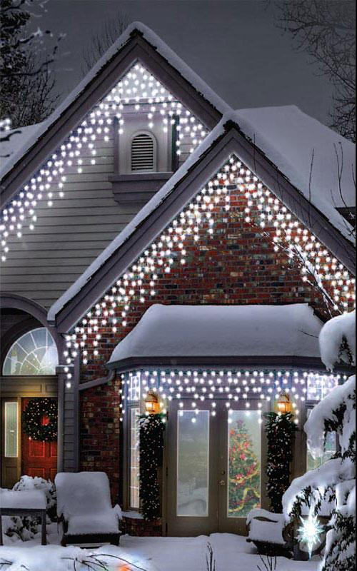 300 Indoor And Outdoor Multi Function Cool White Icicle Led Connectable Light Set