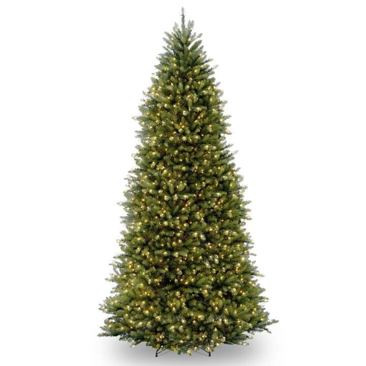 Pe Christmas Trees Uk: 18ft Pre-lit Dunhill Fir Artificial Christmas Tree