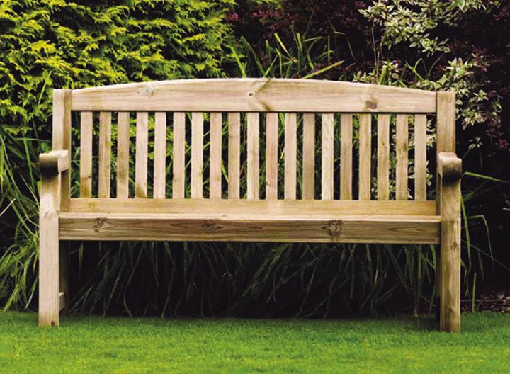 Emily 5ft Bench With Free Brass Plaque Hayes Garden World