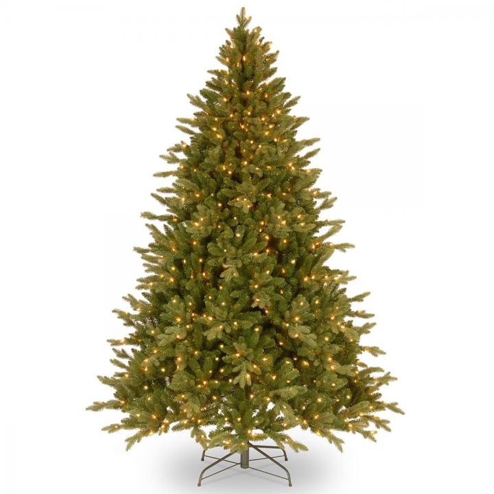 Pe Christmas Trees Uk: 8ft Pre-lit Avalon Spruce Feel-Real Artificial Christmas