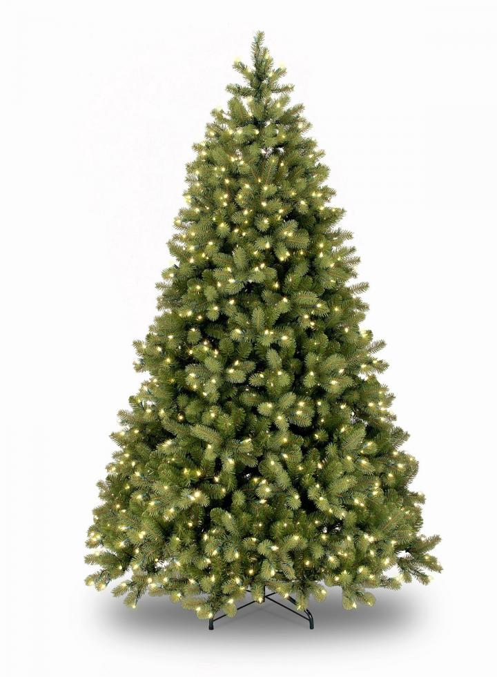 8ft Pre-lit Bayberry Spruce Feel-Real Artificial Christmas ...