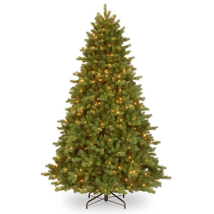 Pe Christmas Trees Uk: 8ft Pre-lit Georgetown Fir Feel-Real Artificial Christmas