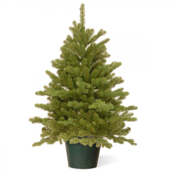 Pe Christmas Trees Uk: 3ft Hampton Spruce Potted Feel-Real Artificial Christmas