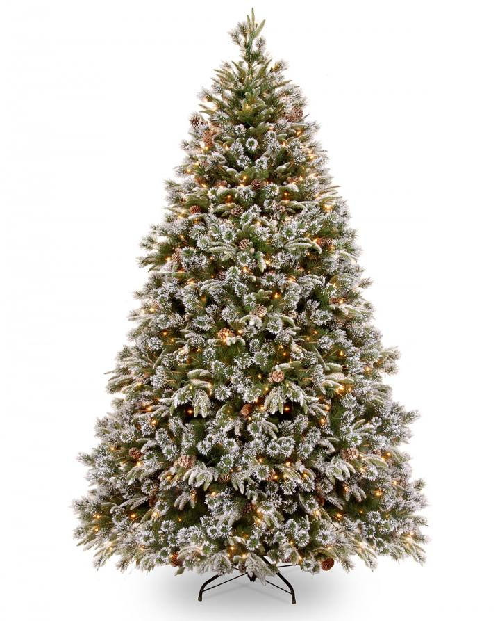 Pe Christmas Trees Uk: 5ft Pre-lit Liberty Pine Decorated Feel-Real Artificial