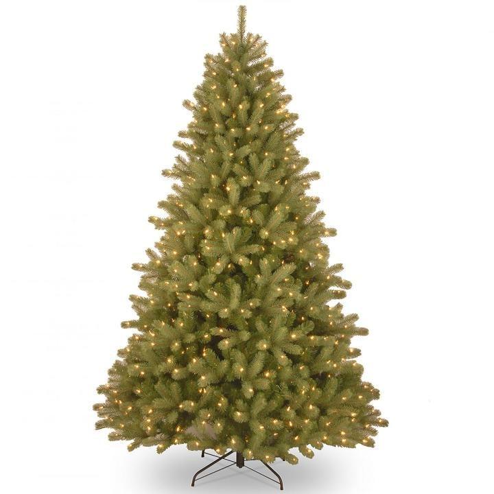 Pe Christmas Trees Uk: 6ft Pre-lit Lakewood Spruce Feel-Real Artificial Christmas