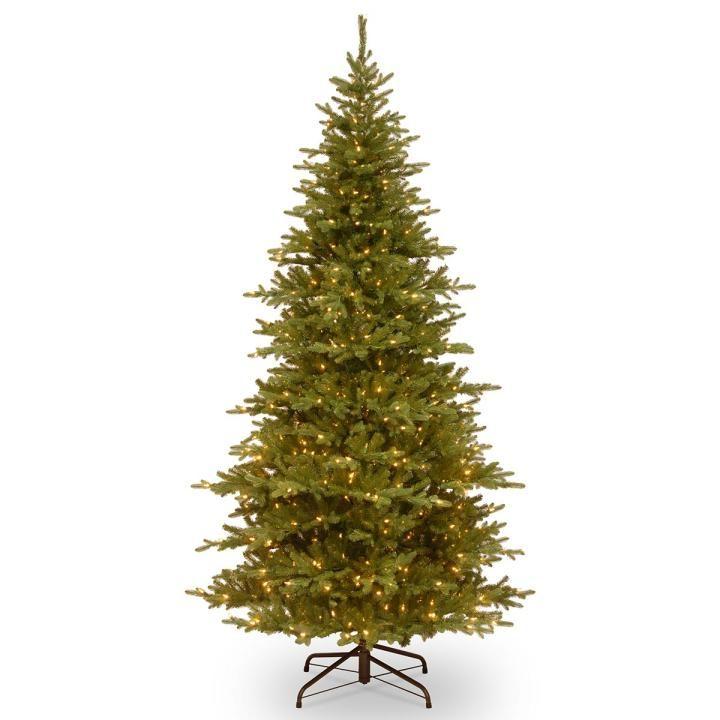 Pe Christmas Trees Uk: 7ft Most Advanced Pre-lit Smokey Mountain Fir Slim Feel