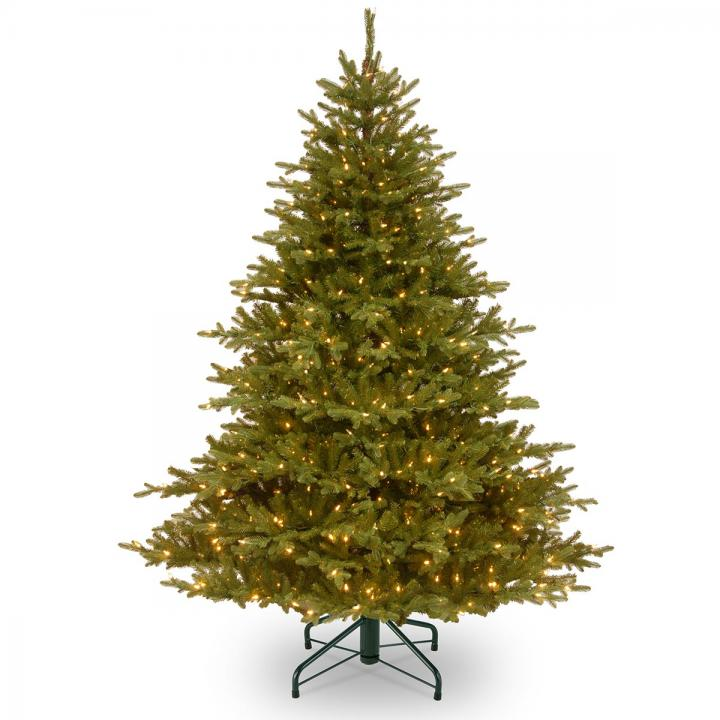 Most Realistic Artificial Christmas Tree.4 5ft Most Advanced Pre Lit Smokey Mountain Fir Feel Real