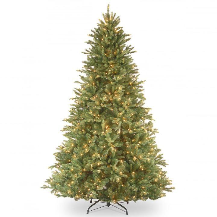 Pe Christmas Trees Uk: 5ft Pre-lit Tiffany Fir Feel-Real Artificial Christmas
