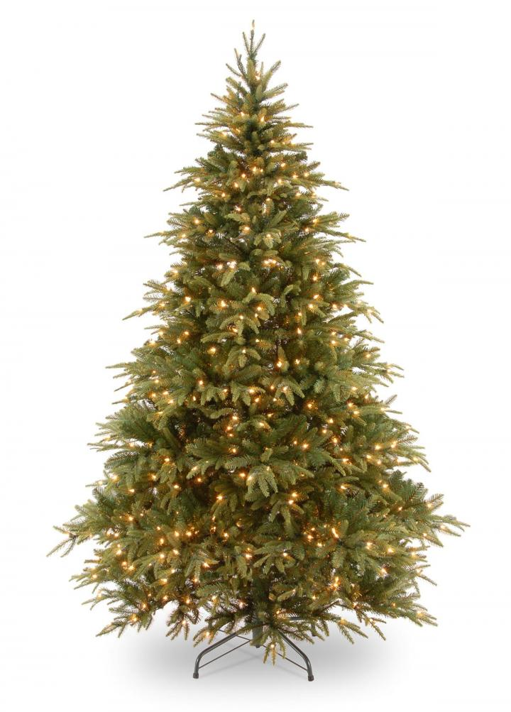 6.5ft Pre-lit Weeping Spruce Feel-Real Artificial Christmas Tree ...