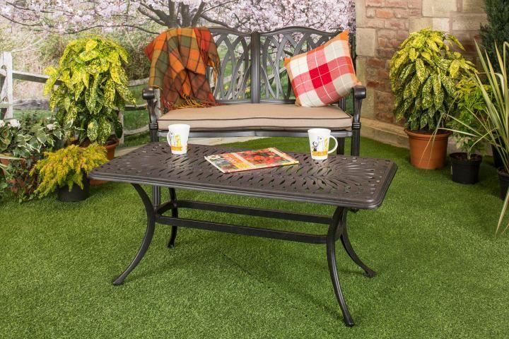 Hartman Florence Rectangular Coffee Table Metal Garden Furniture