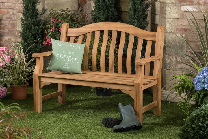 4ft Solid Teak Tenbury Garden Bench Hayes Garden World