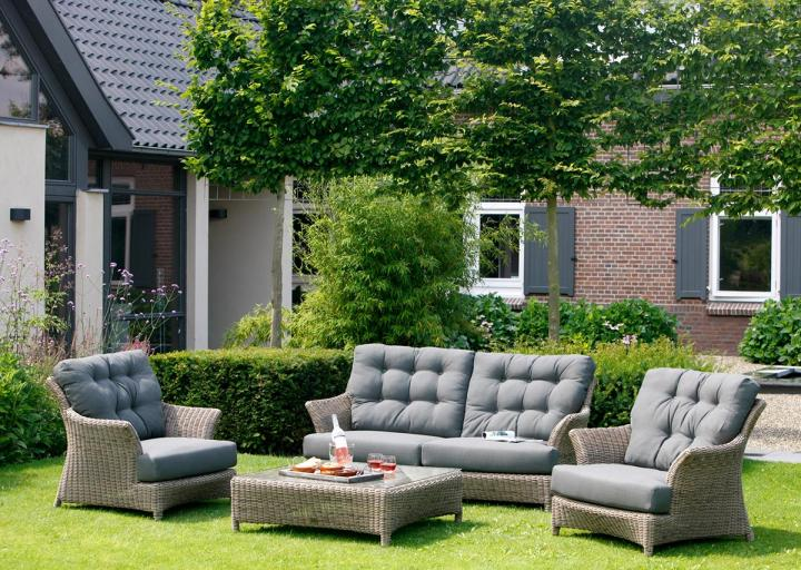 4 Seasons Outdoor Valentine Lounge Set in Pure - Woven ... on 4 Seasons Outdoor Living id=88953