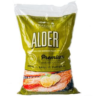 Aromatic Alder hardwood pellets which have a delicate flavour, suitable for smoking & cooking most foods.