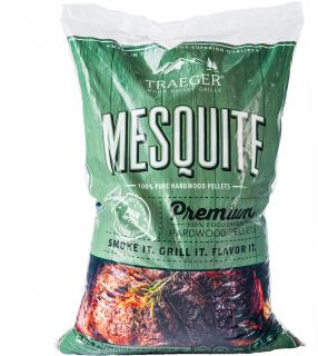Aromatic Mesquite hardwood pellets which have a strong flavour, suitable for smoking & cooking.