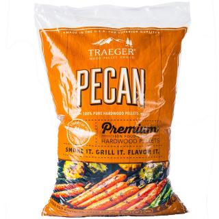 Aromatic Pecan hardwood pellets which have a sweet, spicy flavour, suitable for smoking & cooking a range of foods.