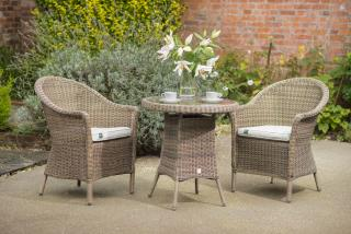 A comfortable hand woven resin weave 2 seat set which comes approved by the RHS.