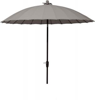 4 Seasons Outdoor 3m Round Shanghai Parasol in Taupe