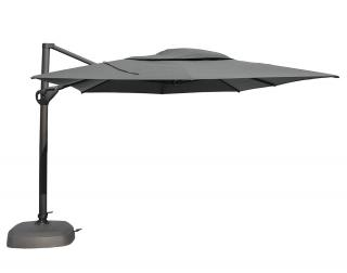 4m Rectangular Hacienda Free Arm Parasol in Anthracite with Charcoal Canopy