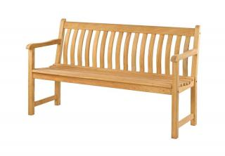 Alexander Rose Code 105. A curved back 3 seat bench.