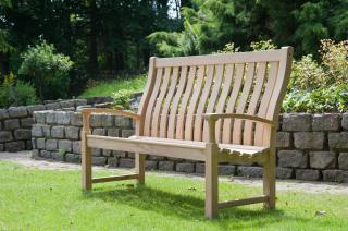 Alexander Rose Code 111. A high backed bench for three.