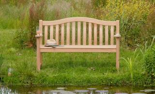 Alexander Rose Code 114. Three seat hardwood bench.