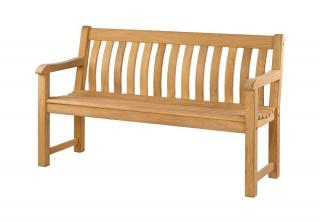 Alexander Rose Code 117. A three seat hardwood bench.
