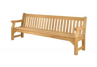 Alexander Rose Code 133. Large six seat hardwood bench.