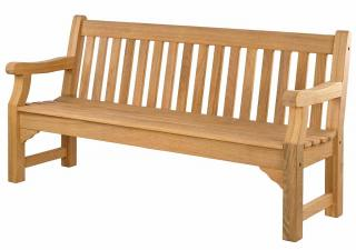 Alexander Rose Code 134. A four seat hardwood bench.