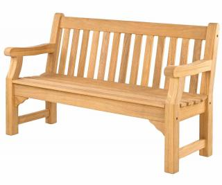 Alexander Rose Code 137. Three seat hardwood bench.