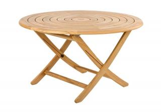 Alexander Rose Code 145. A four seater hardwood table that folds away for storage.