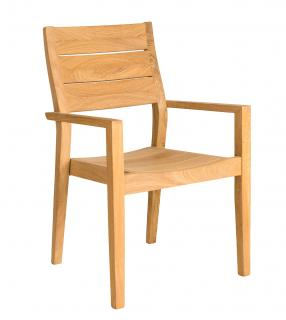 Alexander Rose Code 150HB. A stackable hardwood garden armchair with a high supportive back.