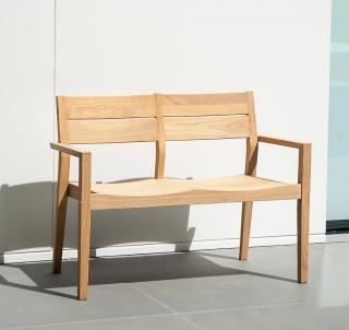 Alexander Rose Code 152. A simple two seat hardwood bench.