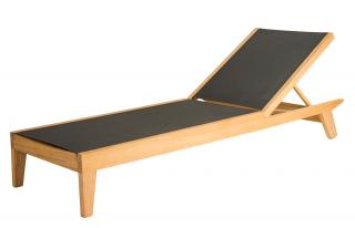 Alexander Rose Code 154CS. A contemporary hardwood sun lounger with a sling base.
