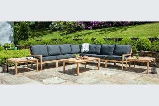 Alexander Rose Roble Modular 7 Seat Lounge Set