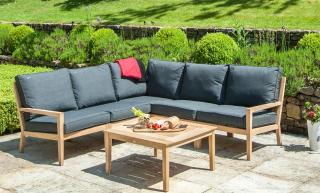 Alexander Rose Roble Modular 5 Seat Lounge Set in Charcoal