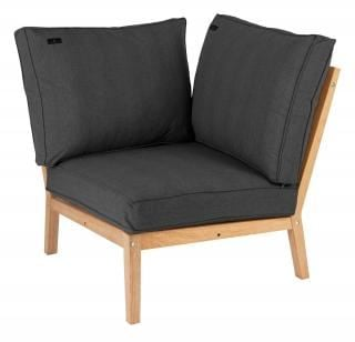 Alexander Rose Roble Lounge Corner Modular Chair With Cushion in Charcoal