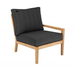 Alexander Rose Roble Lounge Right End Modular Chair With Cushion in charcoal