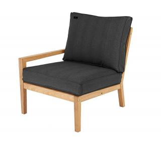 Alexander Rose Roble Lounge Left End Modular Chair With Cushion in charcoal